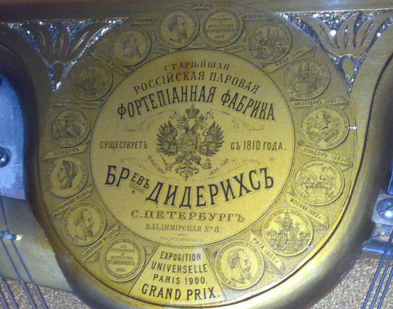 Фортепиано Российской Империи